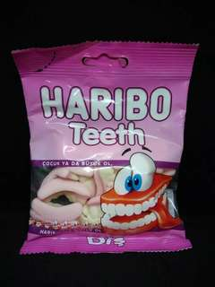 Permen haribo teeth jelly candy made in turkey