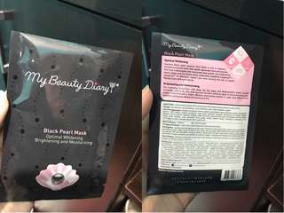 NEW - ORIGINAL MY BEAUTY DIARY BLACK PEARL MASK OPTIMAL WHITENING BRIGHTENING AND MOISTURIZING Exp. 2020