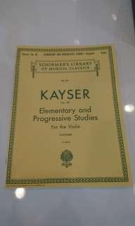 KAYSER OP. 20 Elementary and Progressive Studies for Violin