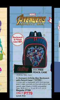 Avengers Infinity War Backpack with Pencil Case