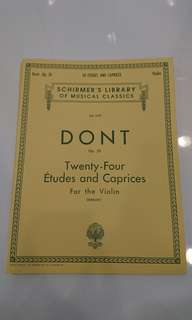 DONT OP. 35 Twenty-Four Etudes and Caprices for Violin