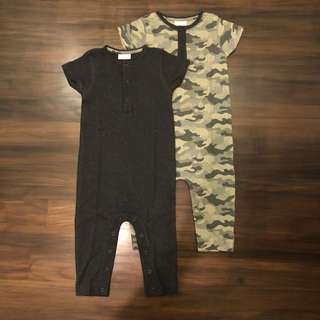 New Next rompers size 9-12 months (set of 2)
