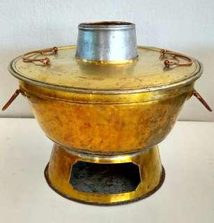 Brass coal steamboat/hotpot