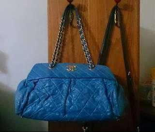 🚚 Chanel霧金鏈幻彩藍