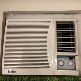 KOLIN aircon window type 0.75hp