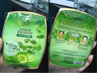 NEW - ORIGINAL SARI AYU ACNE FACE MASK 1 SHEET ONLY