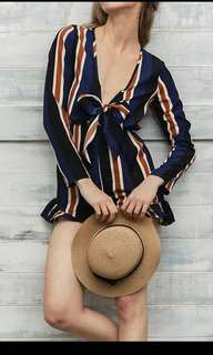 Imported Stripes Romper