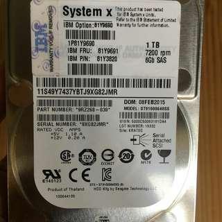 Hard Disk 1TB 2.5in SFF HS 7.2K 6Gbps NL SAS HDD 81Y9690