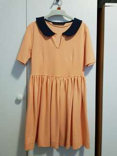 Zara Basic peach colored dress