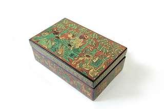 緬甸漆器首飾盒 糖果食物盒 藝術擺設,Jewellery Box