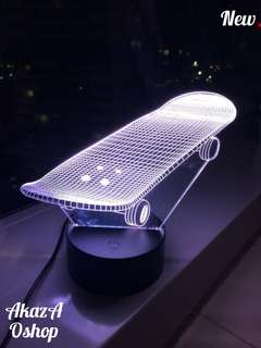 Lampu Hias LED 3D Skateboard