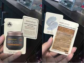 NEW - ORIGINAL INNISFREE SUPER VOLCANIC PORE CLAY MASK SIZE 4ML