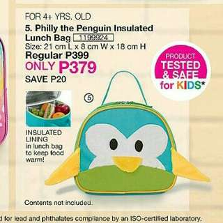 Philly the Penguin Insulated Lunch Bag