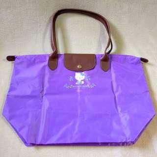 🚚 Hello Kitty薰衣草紫摺疊環保購物袋