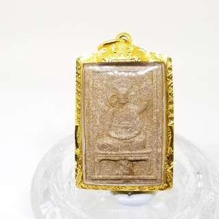 泰國佛牌 2543龍婆疾能(LP Charan),Wat Amphawan 自身,有師傅頭髮(全新防水金殼)