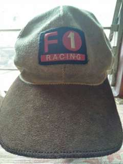 Topi F1 racing kulit