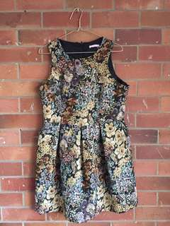 Stunning Floral Tapestry Cocktail Dress