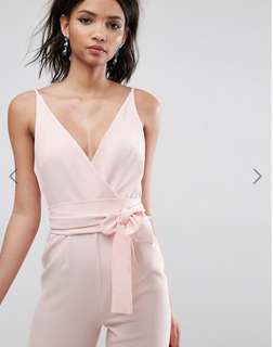 Brand New ASOS Nude Wrap Front Jumpsuit