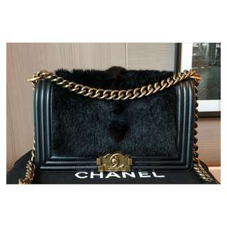 Authentic Chanel Boy Medium Limited Edition