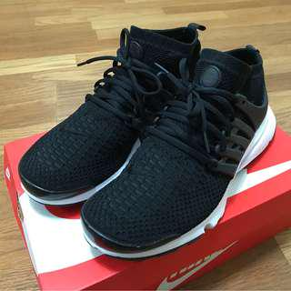 Nike air presto flyknit ultra 魚骨鞋 黑白色 US:10號