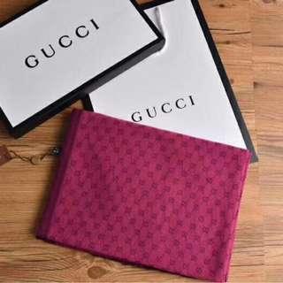Gucci Light Scarf Maroon