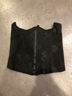 🚚 黑色塑腰提胸托高禮服產後調整型馬甲