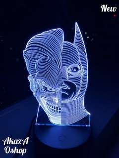 Lampu Hias LED 3D Two Face Joker& Batman