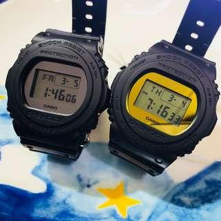 DW-5700BBMA-1 黑銀/ DW-5700BBMB-1 黑金 G-SHOCK 全新鏡面系列 特別顏色型號