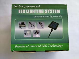 Solar LED lighting system with custom modifications available