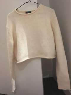Zara knit crop light pink