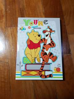 10 Sets of Winnie The Pooh Note Books