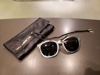 Linda Farrow x Alexander Wang C2 silver round sunglasses