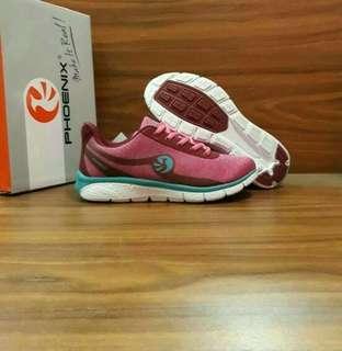 Sepatu Sneakers Running Shoes Cewek Wanita Phoenix Original Brand Merah Maron