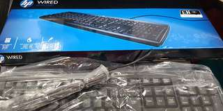HP wired keyboard. brand new in box