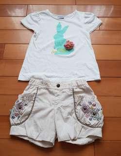 🚚 日本限定Anna Sui Mini蕾絲+立體花朵兔子上衣