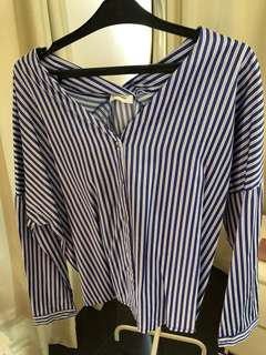 Blouse garis garis