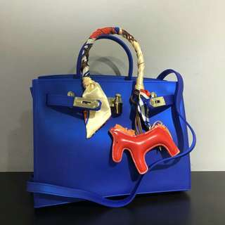 Hermes Birkin Jelly Bag Royal Blue