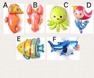 (9/6) Under the Sea theme animal mini foil balloons ( wall deco normal air inflation )