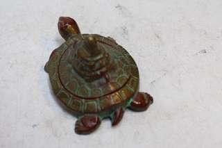 銅色鐵制(南部鐵)龜型印泥