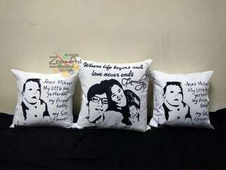 Custom handpainted pillow