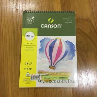 CANSON Watercolor Pad (9x12)