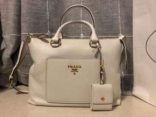Prada Galleria handbag (white)