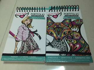 fashion angels portfolio pocket coloring book zendoodle fashion