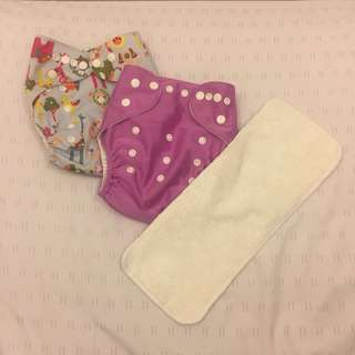 SET - 2 Baby Cloth Diapers