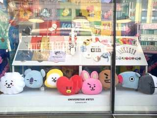 BTS BT21 OFFICIAL Stand Doll / Bag Charm / Plush Head Keychain/ BT21 Charm Keyring [OPENED PO]