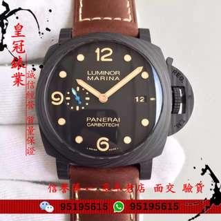 面交 Panerai 沛納海 pam00661 pam661 PAM 661 碳纖維 自動機械 細藍針走秒