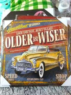 Wood Vintage Car Wall Decor