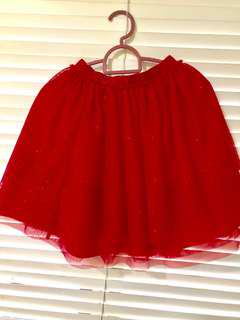 Tutu Red Skirt (9-10 years old)