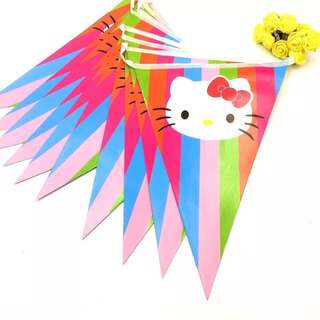 💕 Hello Kitty party supplies - Flag banner bunting / party deco