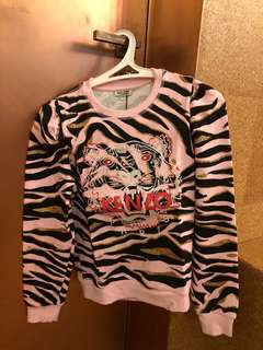 Kenzo 衛衣 pink tiger sweatshirt jumper kids size fit xs s